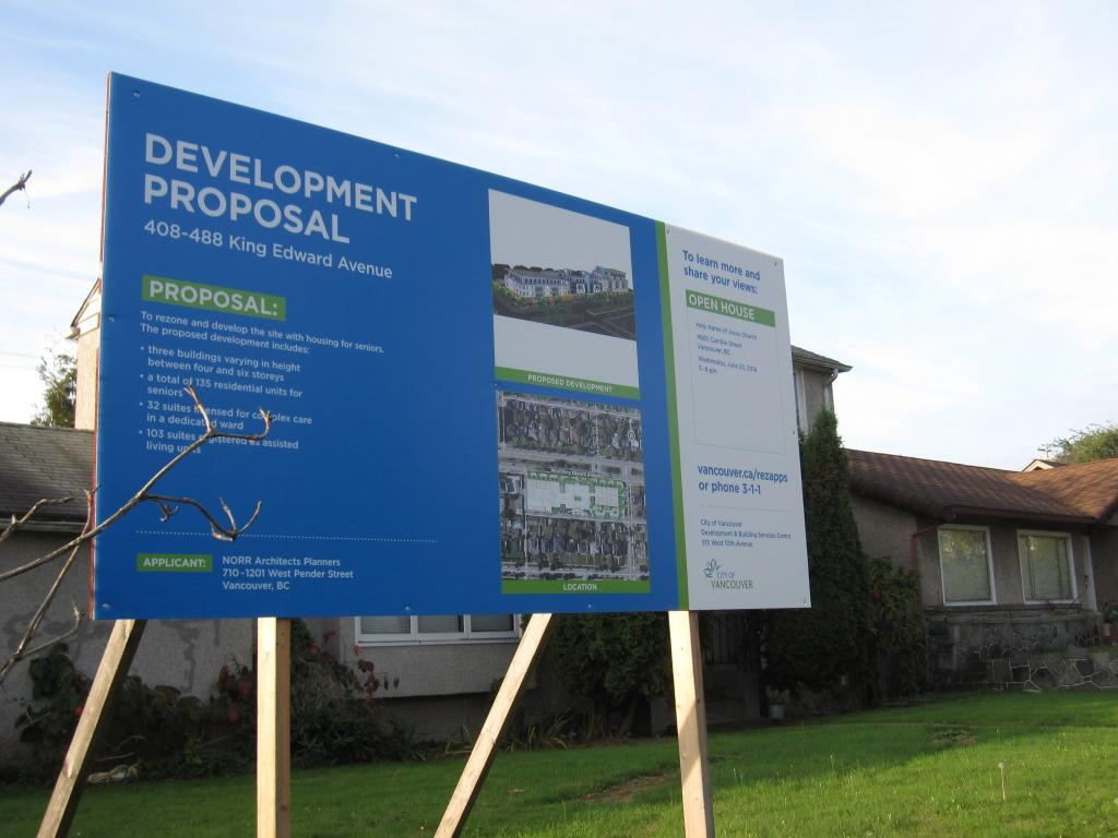 New condo development along King Edward
