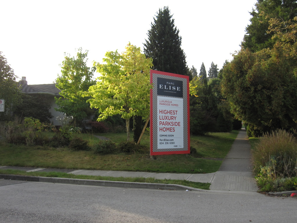 Houses along Cambie Boulevard sold for luxury condo devolpment